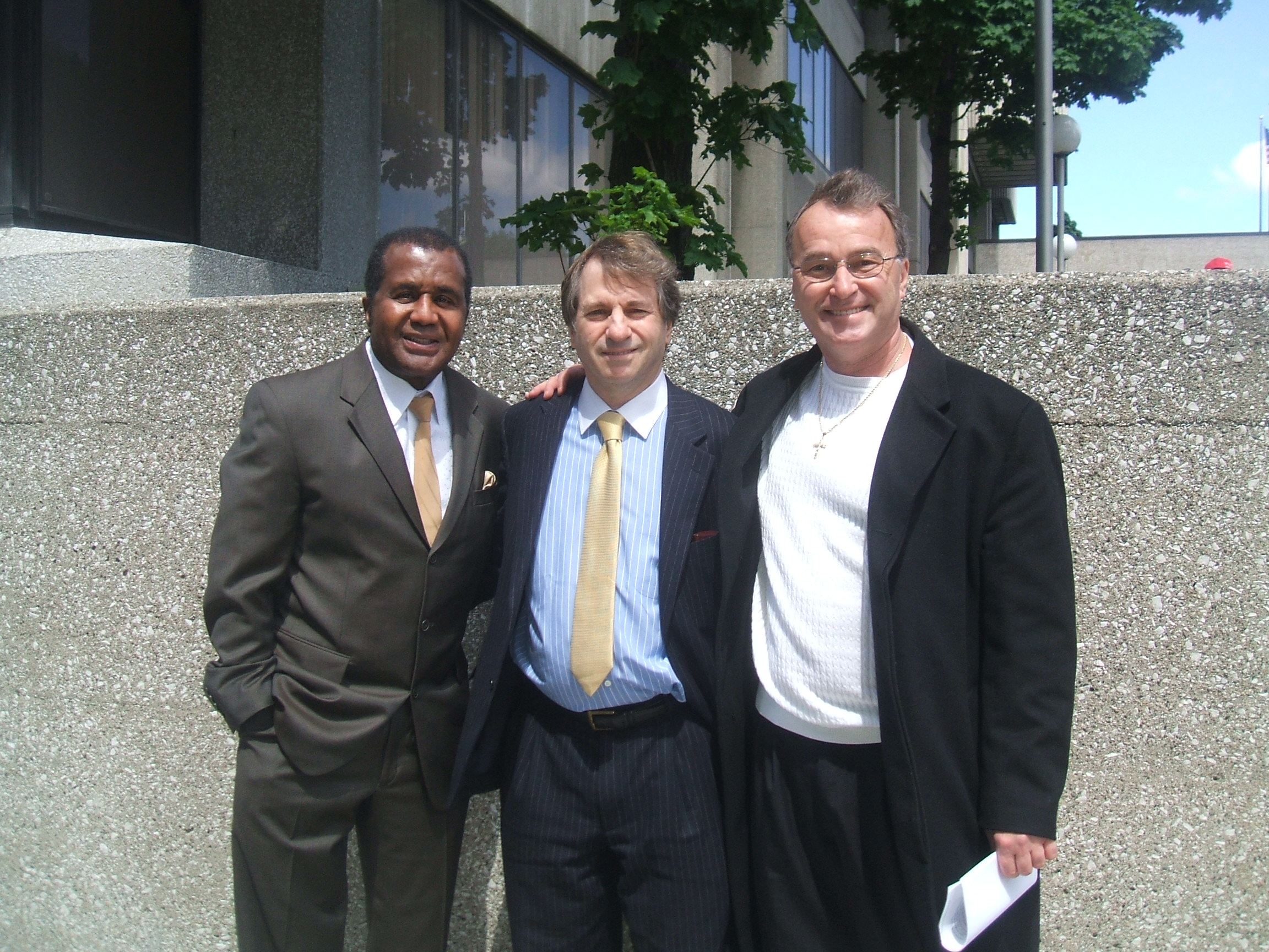 Downtown Detroit with Boxing Manager Emmanual Steward Barry Scheck and Ken