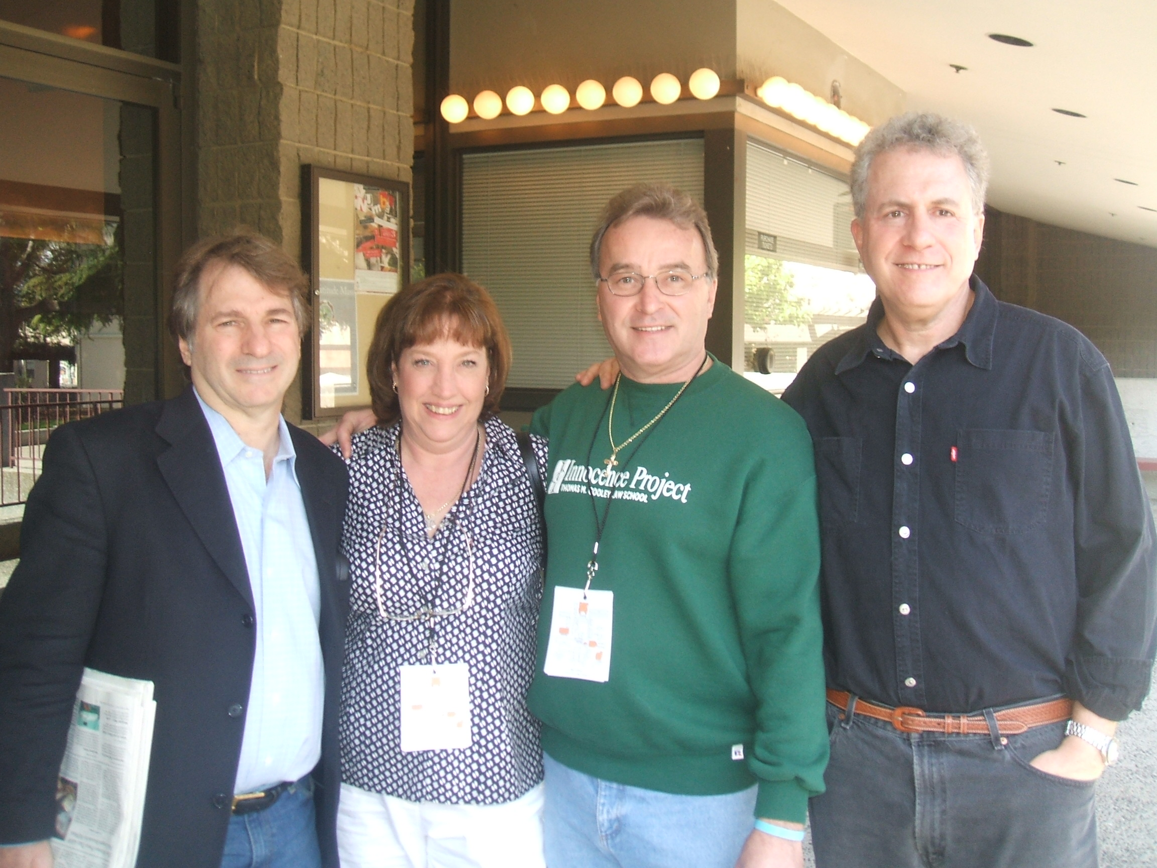 In San Jose 2008 with Barry Scheck Donna McKneelen Ken and Peter Nuefeld