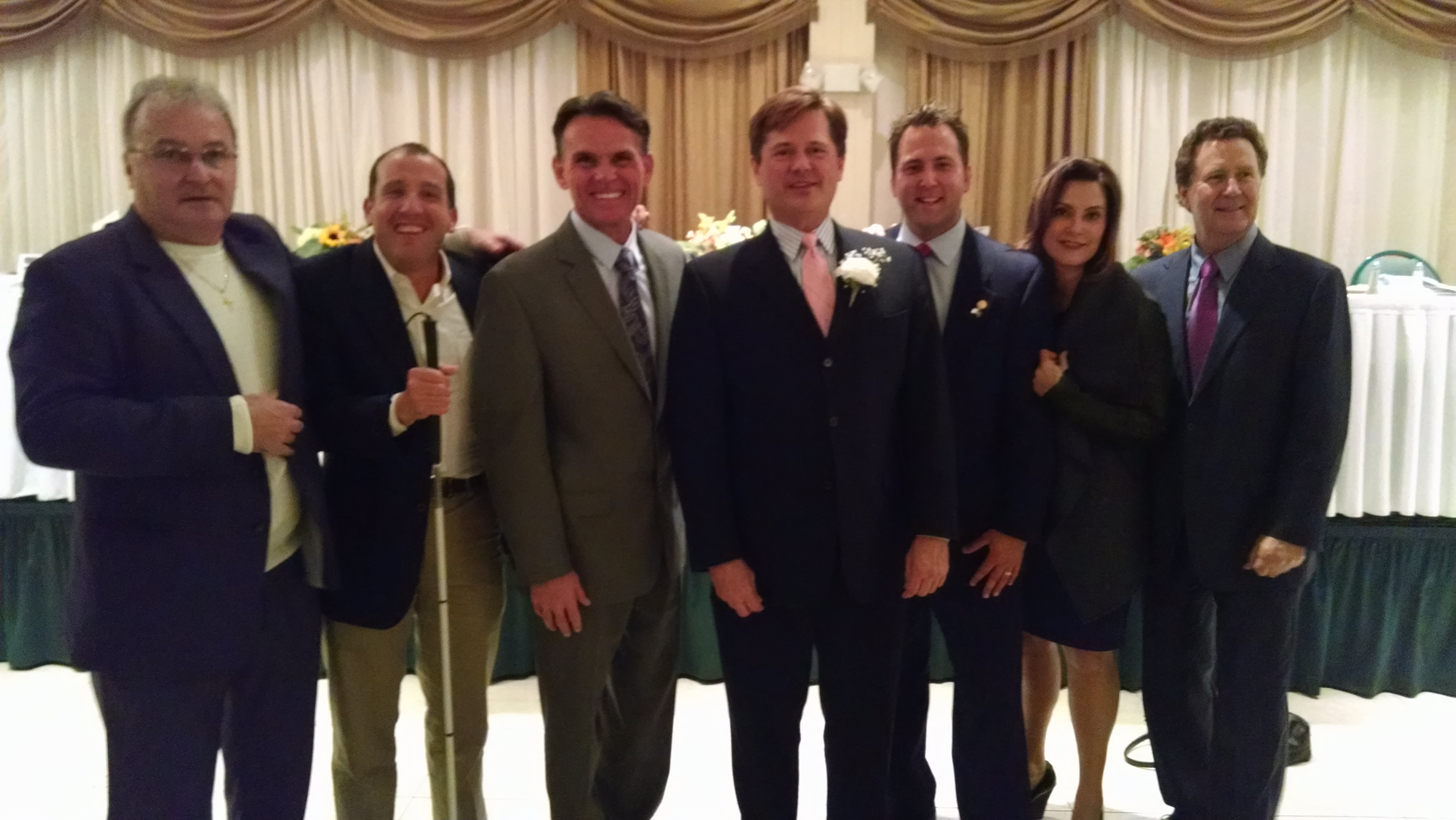 Ken with Supreme Court Justice Richard Bernstein Macomb County Executive Mark Hackell Senator Steve Bieda Senator Derek Miller Senator Gretchen Whitmer and xxx